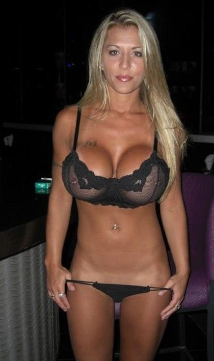 Hot sweaty blonde milf