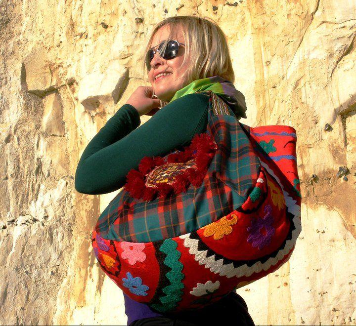 (c) Dina Malkova: Shoulder Handbag ( Handmade Uzbek ...