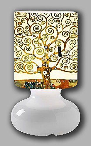 Lampada Da Tavolo Gustav Klimt L Albero Della Vita Gustav Klimt Klimt Lampade Da Tavolo