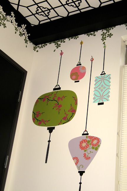 Lovely Lanterns Diy Stencil Project Diy Wall Painting Wall