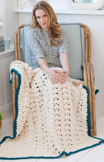 Red Heart® Soft™ Weekend Throw #crochet #pattern | Moore