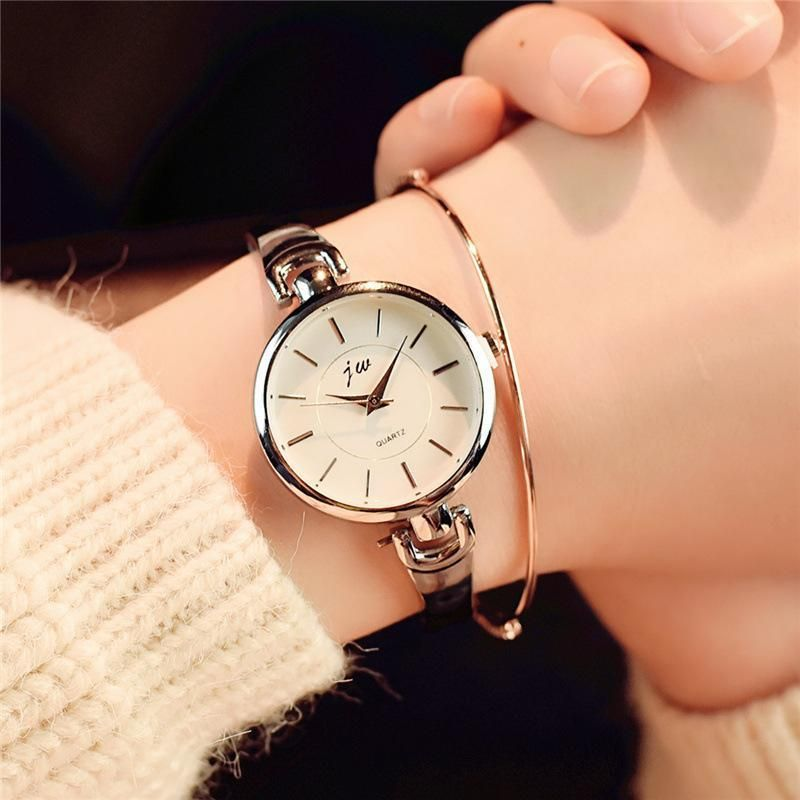 0eaac6392 Simple Silver Women Bracelet Watches With Stainless Steel Thin Strap High  Quality Ladies Quartz