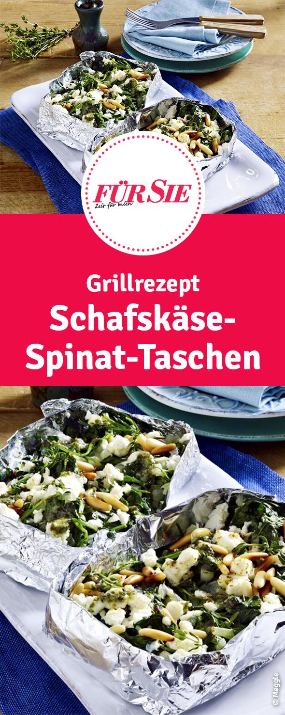 Schafskäse-Spinat-Taschen #grilleddesserts