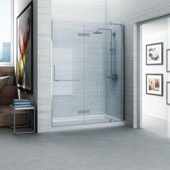 New Waves Leslie 60 Shower Shower Doors Frameless Hinged