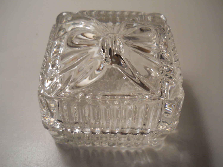 Vintage Lead Crystal Bow Trinket Box, Crystal Ring Box, Crystal ...