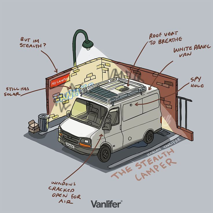 VANLIFER illustration Stealth Campers