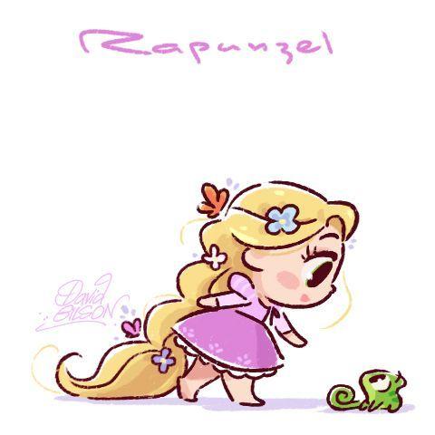 The Mini Rapunsel Disney T Dibujo Foto En Dibujo Y