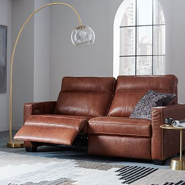 Sofa Sale Henry R Leather Power Recliner Sofa Tobacco