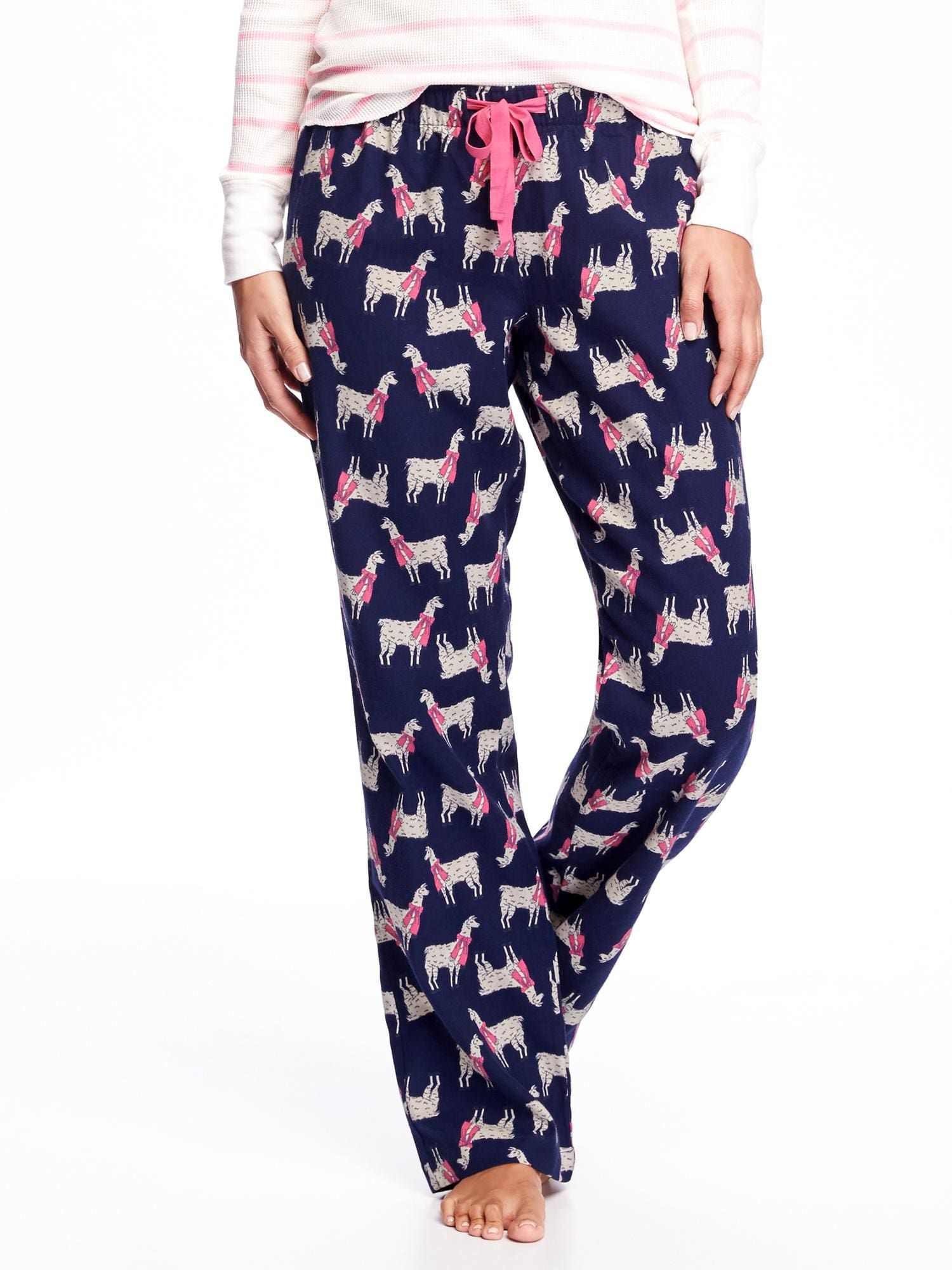 Pajama pants with llamas wearing scarves. Yes.  b20d5f991