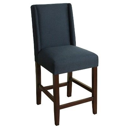 Charlie 24 Quot Counter Stool Wood Navy Kitchen
