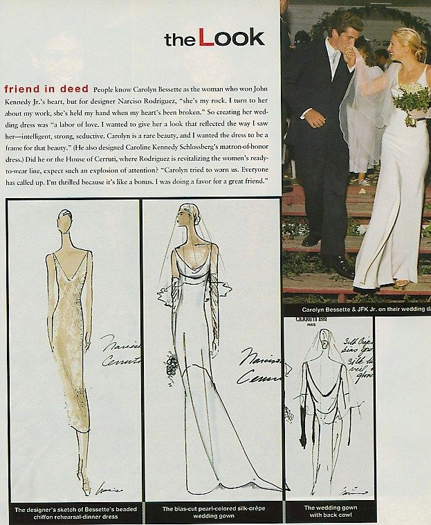 The Wedding Kennedy Wedding Dress Carolyn Bessette Wedding