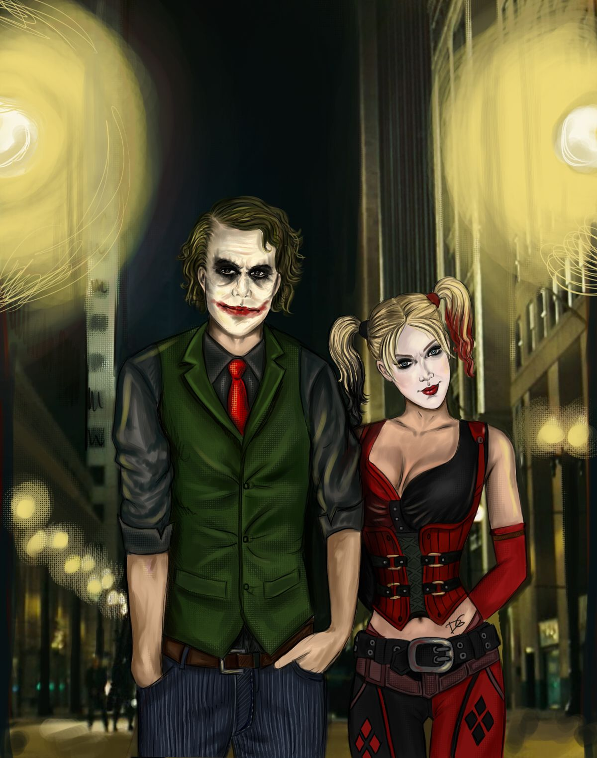 harley and joker i defiantly think that if heath leger wouldnt have died - The Joker And Harley Quinn Halloween Costumes