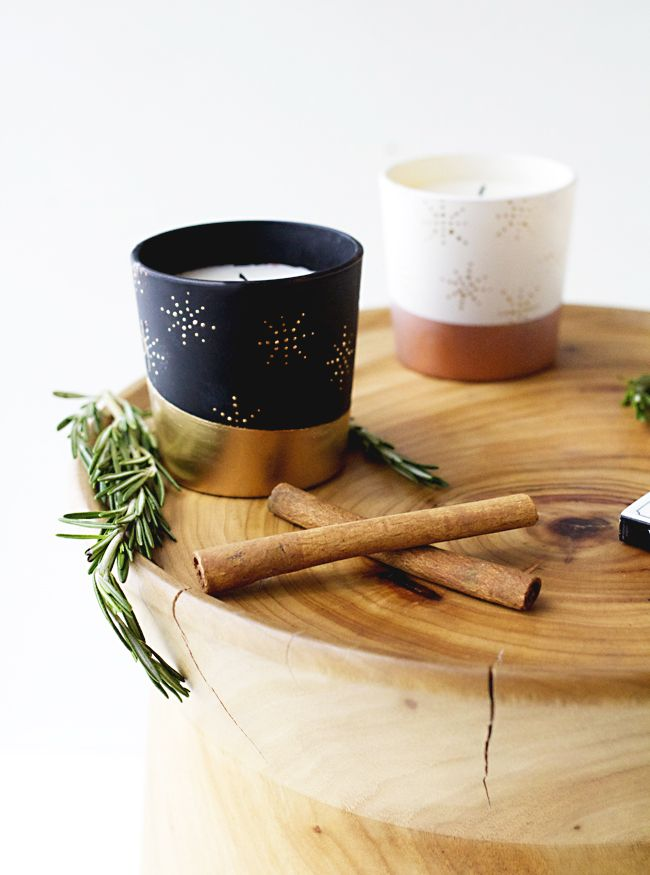 diy copper dipped candles lark linen diy pinterest noel deco et decoration table. Black Bedroom Furniture Sets. Home Design Ideas