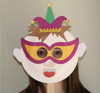 Kaitlyn loved the jester paper plate mask & Kaitlyn loved the jester paper plate mask | Mardi Gra | Pinterest ...