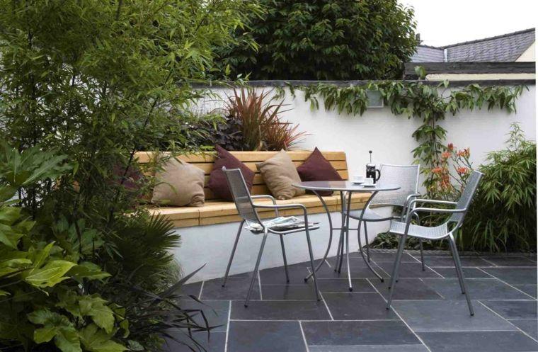 Diseño de patios y jardines pequeños - 75 ideas interesantes