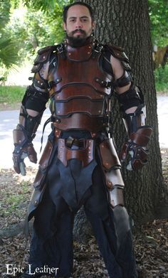SCA Heavy Combat Leather Armor Kit - Front by Epic-Leather
