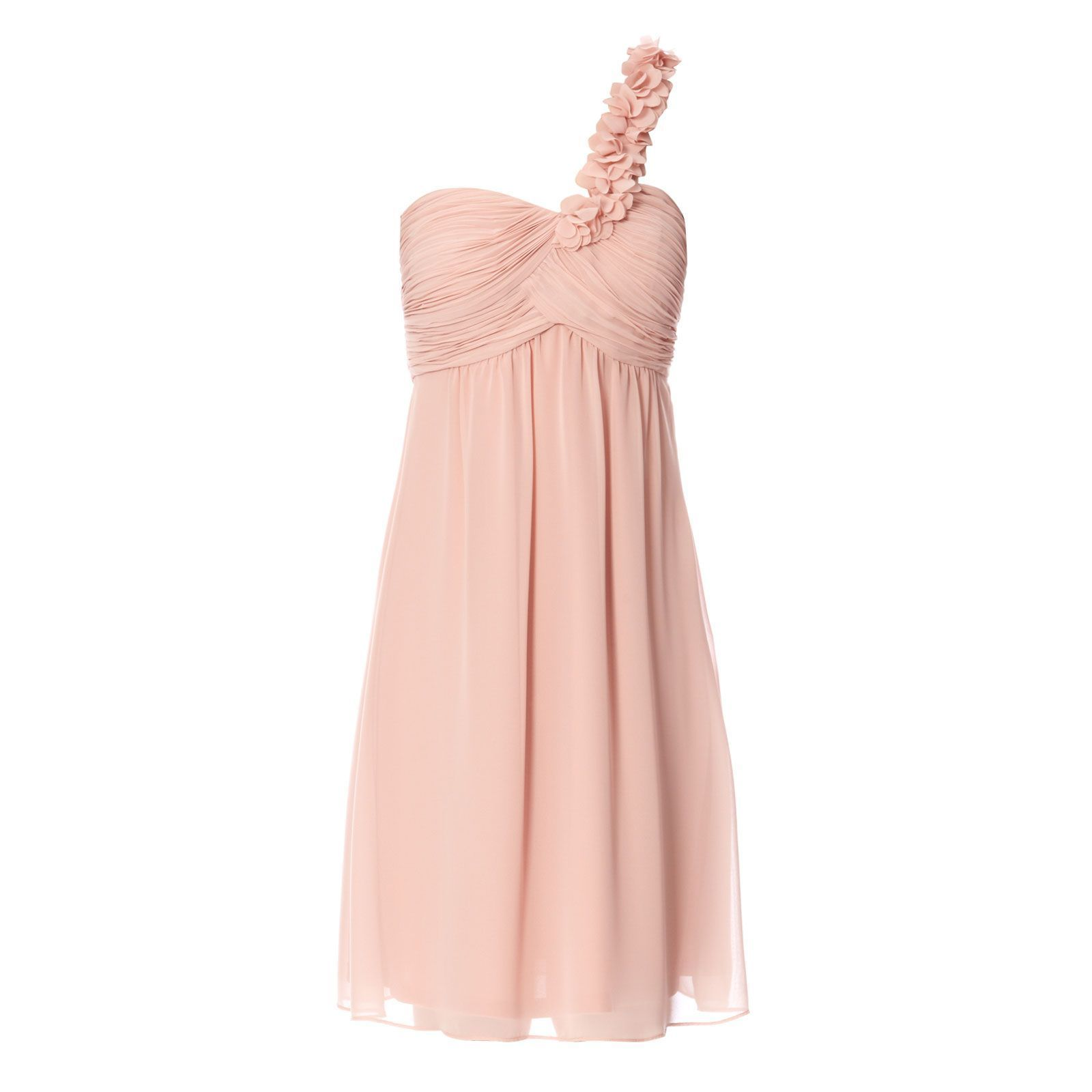 Robe cocktail rose poudre