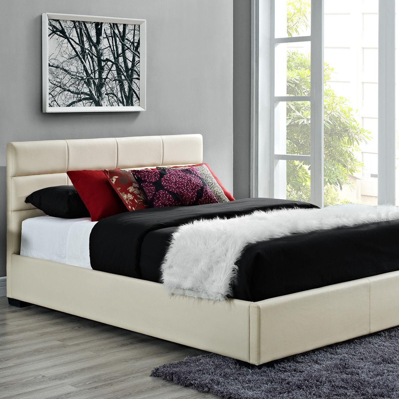 Dhp Modena Upholstered Bed Upholstered Beds Leather Upholstered Bed Black Upholstered Bed