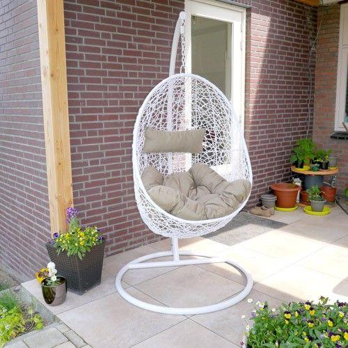 Egg Chair Met Standaard.Hangstoel Egg Chair Wit Hangstoel Hanging Chair Chair En Furniture