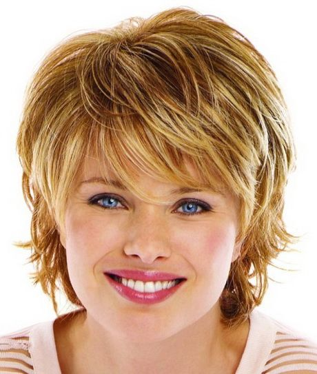 Short Hairstyles For Round Faces Delicate Feathers Short Hair Styles For Round Faces Hairstyles Fine Hair Round Face Short Thin Hair