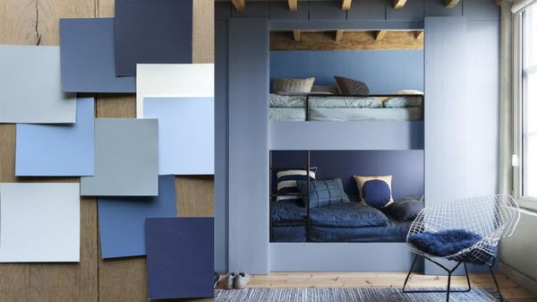 flexa interieur kleur van het jaar 2017 denim drift verf kleurenpalet blauw voor muren meubels en woonaccessoires foto flexa op droomhomenl