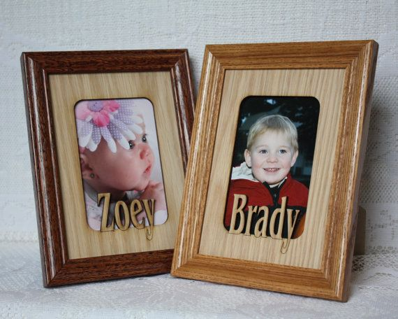 5x7 Name Frame Personalized Picture Frames Mats Insert For Etsy Picture Frame Mat Custom Picture Frame Personalized Picture Frames