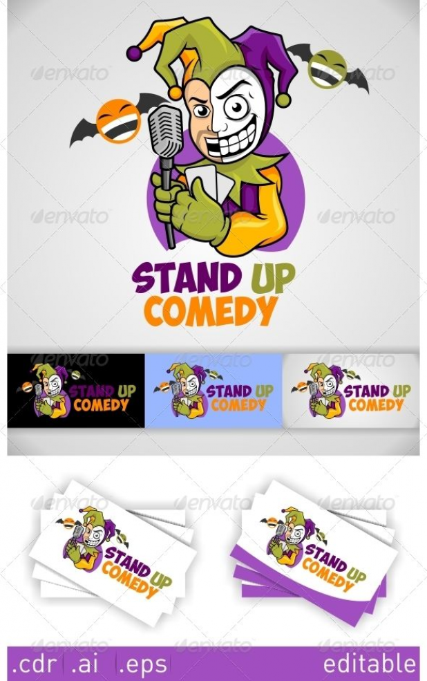 Stand Up Comedy Logo #GraphicRiver funny logo for comedian or comedy event Resizable Vector EPS  Ai CDR Color customizable Font used : Obelix pro .dafont /obelixpro.font Created: 27 November 13 Graphics Files Included: Vector EPS #AI Illustrator #CorelDRAW CDR Layered: No Minimum Adobe CS Version: CS Resolution: Resizable Tags clown #comedian #comedy #funny #joker #laugh #stand up comedy #human #human #logo