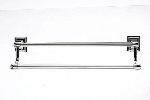 Top S Stk7 Stratton Bath 18 Inch Double Towel Bar Polished Nickel