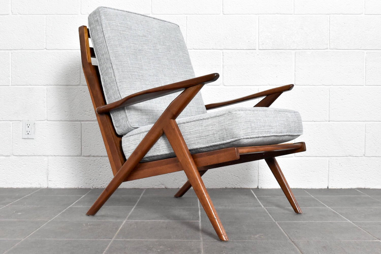 A stunning newly refinished Danish modern high back