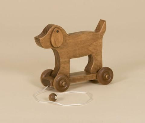 Complete Pull Toy Set Amish Handmade Wood Horse Boat Grasshopper