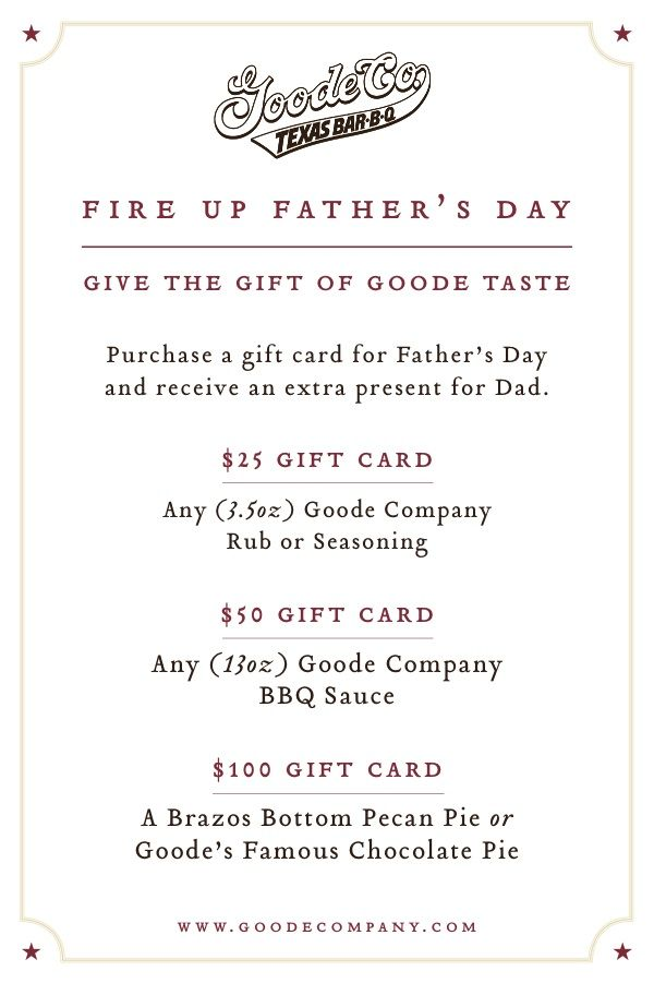 For the picky pops, pick up a Goode Company Gift Card and get a ...