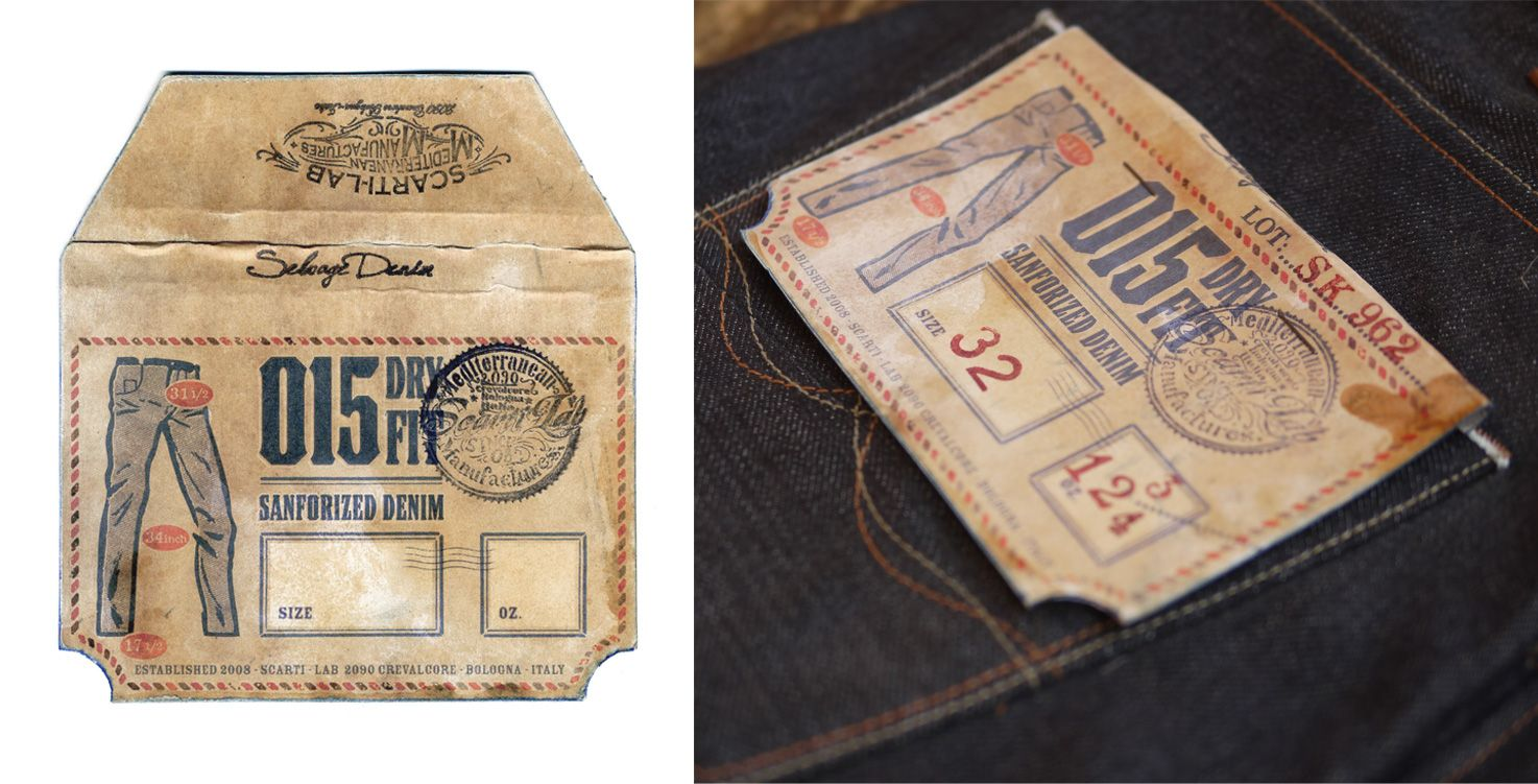 015 Dry Fit Selvedge Denim Pocket Flasher (2014) _ Second of a five pieces set I designed for Scarti-Lab (Italian Brand) #pocketflasher #denim #selvage