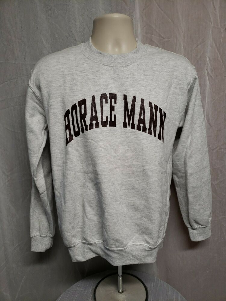 size 40 b152b 30d9e Horace Mann School Adult Small Gray Sweatshirt ...