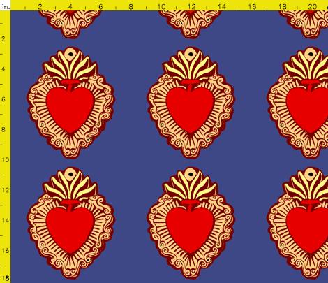 Milagros Corazon Fabric