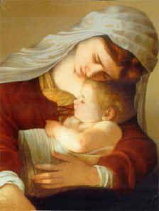 Mary Cuddles Infant Jesus