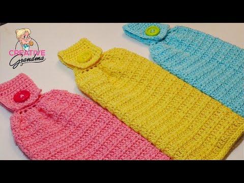 Easy Hanging Kitchen Towel - Crochet Tutorial - Lion Brand ...
