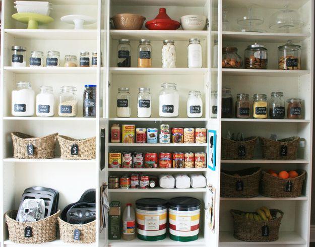 organização armários cozinha