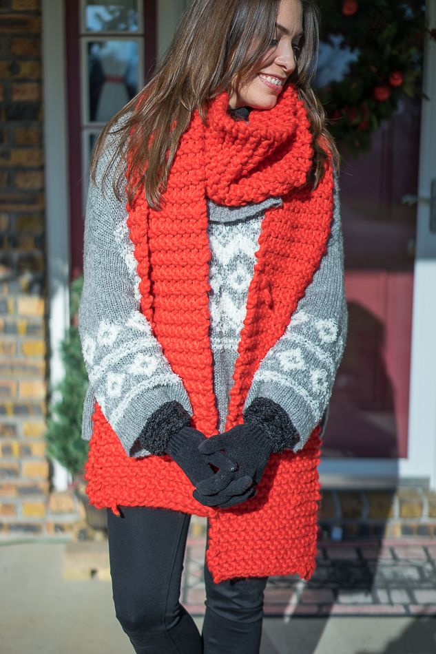 A Glam Lifestyle - Red Snow Day Anthropologie scarf and Free ...
