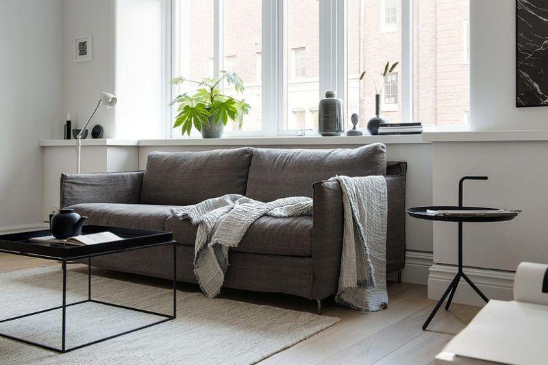 Une déco scandinave contemporaine en noir et blanc Décoration