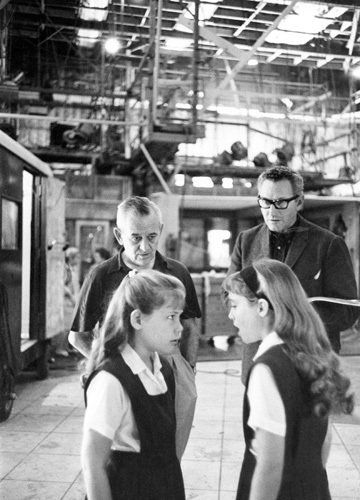 Director William Wyler on the set of The Children's Hour (1961). #williamwyler