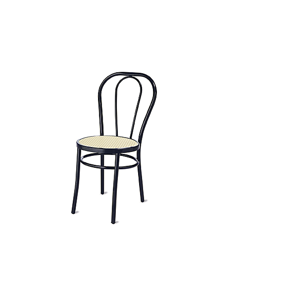 Sedie thonet modello vienna in metallo e seduta in finta paglia da esterno economiche e moderne - Sedie per esterno economiche ...