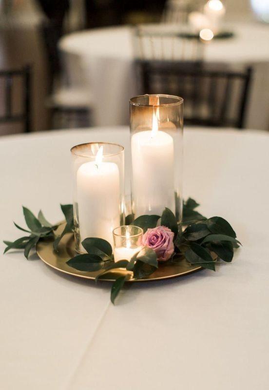 79 Insanely Stunning Wedding Centerpiece Ideas Pouted Com Candle Wedding Centerpieces Simple Wedding Centerpieces Wedding Decor Elegant