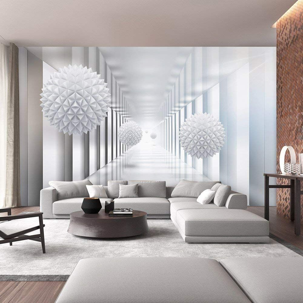 Sumgar Custom 3d Wall Murals Space For Living Room White Wallpaper Adhesive Non Woven Home D Home Design Living Room 3d Wallpaper Living Room Brick Living Room