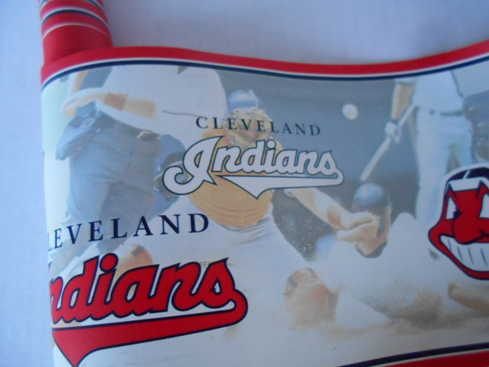 Cleveland Indians Wallpaper Wall Border Chief Wahoo MLB Baseball 1 Roll 15 Ft