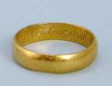 OnlineGalleries.com - 17th century gold posy ring