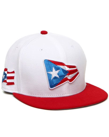 DrJays.com - Detailed Images of Puerto Rico Country colors NE Originals  5950 fitted hat by New Era 398a1c6141b7