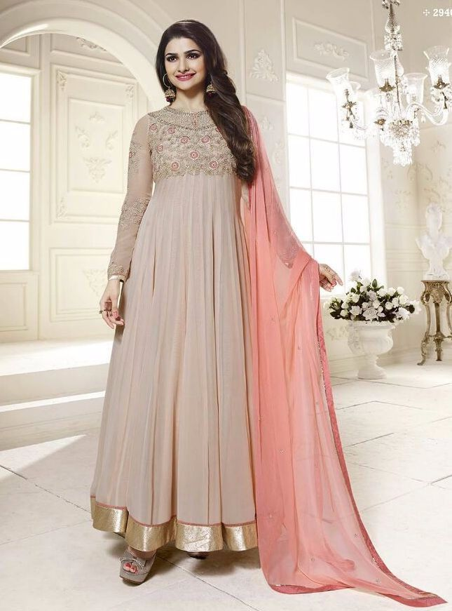 ed1d28c98a Vinay Fashion 2946 Grey Color Georgette Designer Anarkali Suit ...