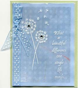 What a Beautiful Difference Card, Stamps, & DIY Directions from GreatImpressionsStamps.com