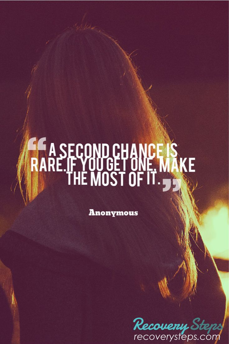 Inspirational Quotes A Second Chance Is Rare If You Get One Make The Most Of It Follow Https Www P Chance Quotes Inspirational Quotes Be Yourself Quotes