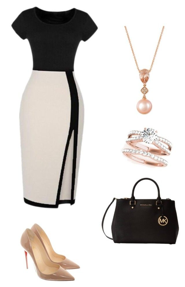 """Untitled #6"" by miwa-fukuta on Polyvore featuring Christian Louboutin, Michael Kors and LE VIAN"